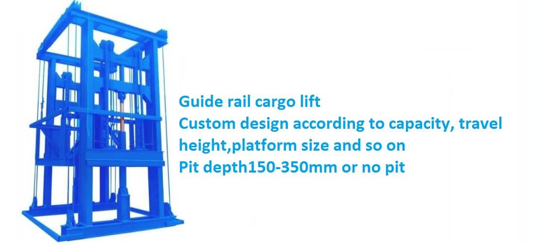 guide rail cargo lift